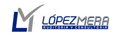 Logo López Mera, S.L. blanco